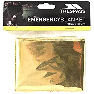 Trespass Foil X, Not Applicable, Emergency / Thermal / Safety / Survival / First Aid Blanket, 150cm x 208cm, Multicolour