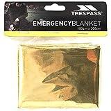 Trespass Foil X, Rettungsdecke / Thermodecke / Rettungsfolie / Survival Bag / Notfalldecke / Erste Hilfe Decke 150cm x 208cm