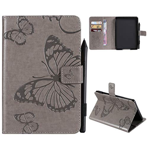Kindle Paperwhite Hülle Kunstleder Tasche Schutzhülle Hardcover Cover für kindle paperwhite 10th Generation 2018/kindle paperwhite 1 2 3 Version Schmetterling Falten Kartenfach Ständer Anti-Fall Etui - Kindle-version Fall 2