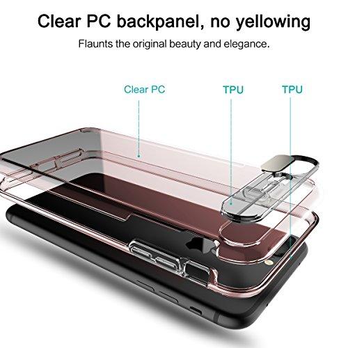 ROCK Flash Light iPhone 8/7 Plus Coque,Flash Lumière Éclat Lorsqu'un Appel Entrant,Clair Transparent PC + TPU Étui pour iPhone 7 Plus(5,5 pouce) - Bleu Transparent Rose Transparent