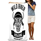 Microfiber Fast Drying Bath Towels Swimming Camping Towel, Adults Spa Bath Towel 31x51 Inches vintage images buffalo bison ox design motorcycle bike motorbike scooter club aero club hand...
