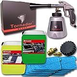 Brestol + Bendel Tornador Black Z-020S gebrauchsfertiges UNIVERSALREINIGUNGSSET 2X 5 Liter Kunststoffreiniger Lederreiniger Textilreiniger Polsterreiniger + 10x Mikrofasertuch Universaltuch