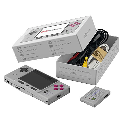 GZW-SHOP GBA Retro Classic Konsole DIGI Retroboy mit Spielkarte (Grau)