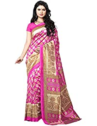 Winza Designer Womens Printed Bhagalpuri Cotton Silk Casual Wear With Blouse Saree