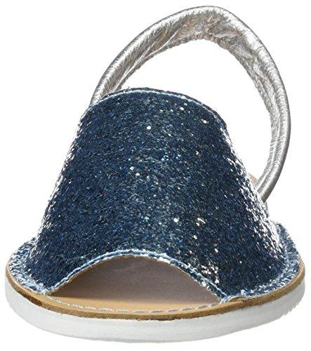 Cuple Abarca Glitter, Sandales femme Turquoise