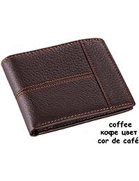 8f95fbfec kaoling Cuero Hombre Carteras Moda Splice Monedero DóLar Precio Original  Coffee