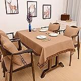 CCILOVE Mantel de lino estilo moderno minimalista encajes de paño de color sólido,brown,130*180 cm