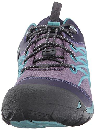 Keen Chandler Cnx Wp, Chaussures de Randonnée Basses Mixte Enfant Multicolore (Montana Grape/aqua Haze)