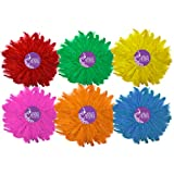 #9: AsianHobbyCrafts Natural Dyed Feathers : Size- Multi : Pack of 6 Colors : 450pcs Approx