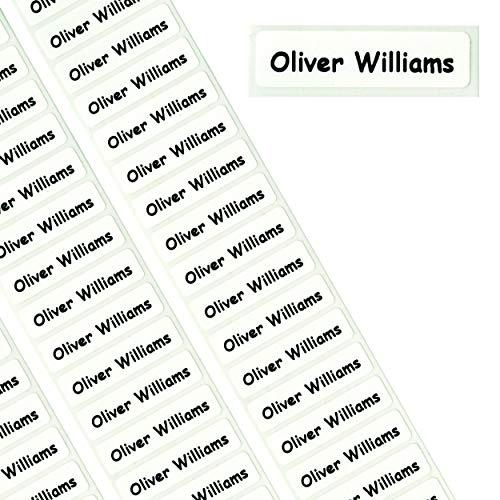 50 etichette nominative a nastro stacca e attacca, per la scuola, con stampa personalizzabile