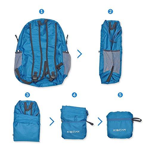 KSCAT 20L Faltbarer Rucksack/ Leichter Reiserucksack/ Tagesrucksack wandern für Männer, Frauen und Kinder wasserdicht Fahrradrucksäcke Blau