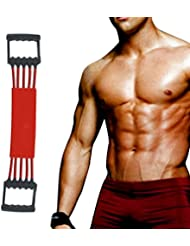 Extenseur Poitrine Exerciseur Musculaire Winline Ajustable de 5 Bandes de Forte Résistance avec Couverture Sécurisée