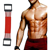 Winline Expansor del pecho Ejercitador de músculo ajustable, Fuerza de tracción 5 bandas removibles de resistencia con cubierta segura