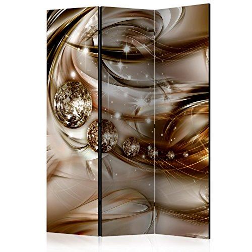 murando Paravent 135x172 cm Réversible Deux Côtés Impression sur Toile intissée 100% Opaque Foto Paravent décoratif en Bois avec Interieur Impression a-A-0168-z-b