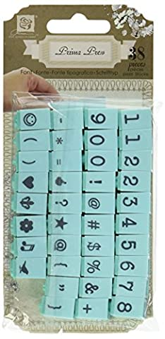 Prima Marketing Prima Marketing Prima Press Alphabet Stamp Set, 0.25-Inch,