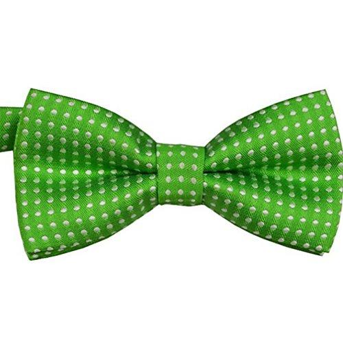 Dots Boys Band (Good01 15Farben Baby Girl Boy Child Pre Gebunden Party Hochzeit Smoking Dots Fliege Krawatte, grün, Einheitsgröße)
