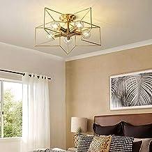 Kroonluchters LTJ volledig koperen vijfpuntige ster Ceiling Lamp, Voeding: zonder Lichtbron (5 Heads) nieuw in 2020 (Color : 5 Heads)