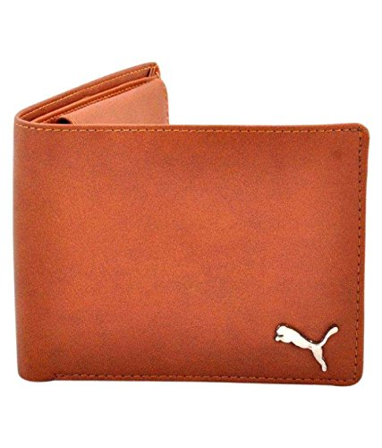 White Bear Puma F1 Men Wallets PU Tan Formal Short Wallet