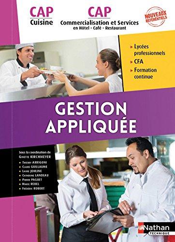 Gestion appliques - CAP Cuisine et CAP Commercialisation et Services en HCR