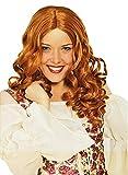 Das Kostümland Langhaar Locken Perücke Joy - Irisch Rot