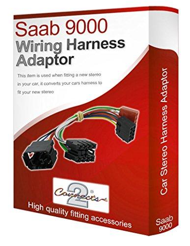Saab 9000 CD radio stereo-Kabelstrang loom-adapter ISO-Kabel