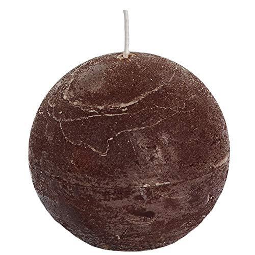 Spaas - Velas esféricas (6 Unidades, Cera de parafina, 100 mm de Profundidad), Color marrón