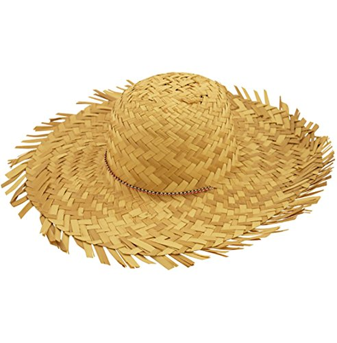 908e9500d2b Mens Beachcomber Straw Hat Adults Beach Party Fancy Dress Novelty Accessory  One Size One Size Beach