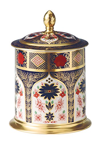 Royal Crown Derby - 50oz Storage Jar - Imari Solid Gold Band