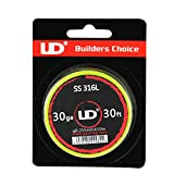 UD Youde wire Bobina di filo Stainless Steel SS316L, 10 metri, 30 AWG/0,255 mm