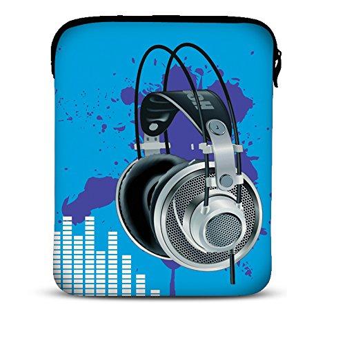 MySleeveDesign 7-7,9 Zoll Tablet Hülle Sleeve Kompatibel Mit Samsung Galaxy Tab 4 7.0 Fire HD Apple iPad Mini Lenovo A7 Acer A1 One 7 Asus Nexus Kindle UVM. - Blue Sound [7]