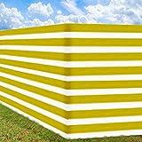 Frangivista per recinzioni 5x1,8 m protegge da raggi UV - contro sguardi indiscreti - fissaggio incluso - giallo-bianco