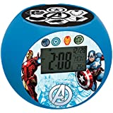Marvel - Despertador digital con proyección, color azul (Lexibook RL975AV)