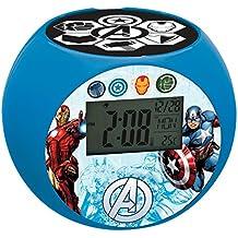 Marvel - Despertador digital con proyección, color azul (Lexibook RL975AV)