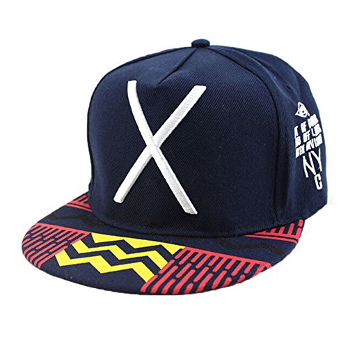 Blue Vessel Baseball Cap Hip-Hop Hut Einstellbare Koreanische X Flat Hut Unisex-verstellbare Kappe