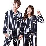 a465257b33 Set de pijamas de algodón para hombres y mujeres Set de ropa de dormir de  algodón Set para caballeros de cuerpo entero Nuevos estilos para todas las  ...