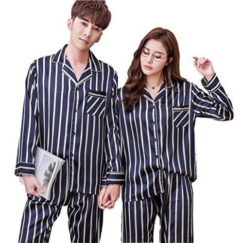Pigiama in cotone da uomo e da donna set pigiama in cotone set da uomo in cotone a figura intera nuovi stili per tutte le stagioni , female , xl
