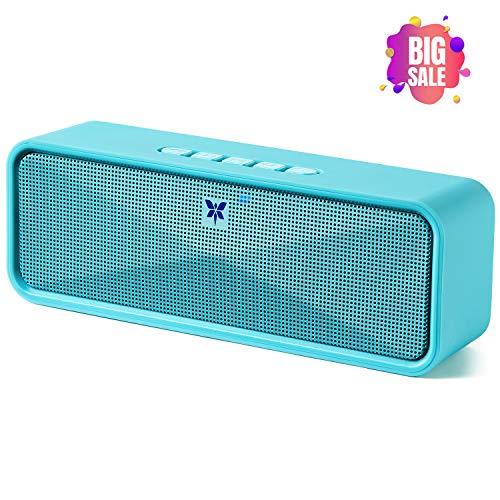 Bluetooth Lautsprecher Tragbarer Axloie Kabelloser Lautsprecher Bluetooth 5.0 mit eingebautem Mikrofon USB-Anschluss / TF-Karte / Aux 10 Stunden Spielzeit für iPhone, Samsung usw - Blau