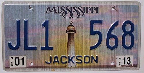 USA Nummernschild MISSISSIPPI ~ US Kennzeichen Leuchtturm Motiv ~ Blechschild