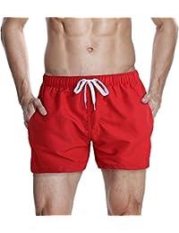 HEMOON Homme Maillot de Bain Short Pant Court de Sport/ Plage/ Beach Bermudas colore
