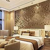 FAHOME Tapete Moderne minimalistische Hirsch SAMT Stereo Mosaik Tapete TV Schlafsofa Veranda Hintergrund Wand Verdickung Tapete 3D, A