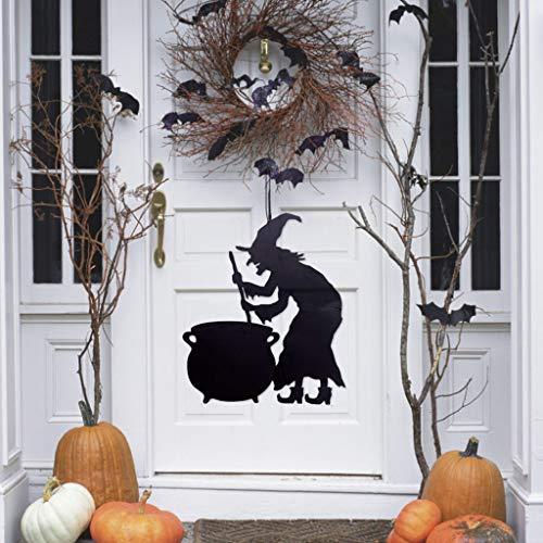 Uhrwerk Kostüm Orange Frauen - jieGREAT ❤❃ Räumungsverkauf❤❃ ,Halloween Vlies tür hängen Dekor Haunted House Fledermaus Home Party Dekor