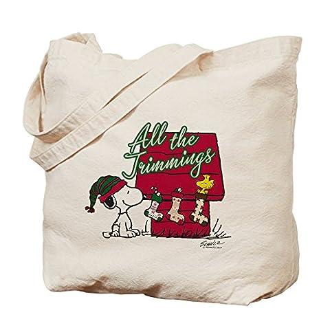 CafePress–Snoopy: Alle der Besatz–Leinwand Natur Tasche, Reinigungstuch Einkaufstasche (Snoopy Charlie Brown Christmas)