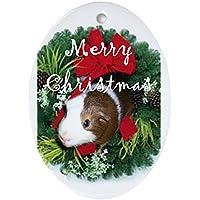CafePress–Guinea Pig Natale ovale, vacanza decorazione natalizia