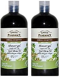 Gels Douche Bio (2x 500 ml ) Green Pharmacy Parfum Agan Figue