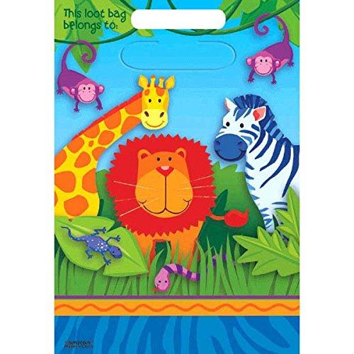 Just for Fun - Bolsas para fiestas con diseño de animales de la jungla (8 unidades)