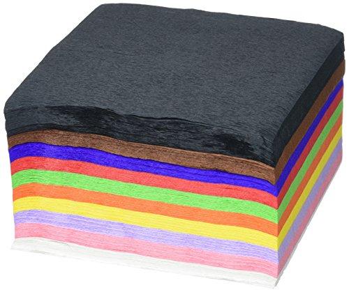Book's Cover of Baker Ross Carrés en Papier Crépon que les Enfants pourront Utiliser pour Fabriquer des Cartes et Collages et Décorer leurs Projets de Loisirs Créatifs Lot de 500