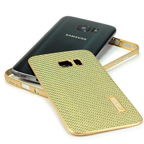 Coque iPhone 7 Plus, Urcover Aluminium- Fibre de Carbone Housse Étui [avec Support] Téléphone Smartphone Argent pour Apple iPhone 7 Plus Case Or / Champagne Or