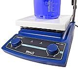 Witeg Magnetrührer MSH-20A analog 180x180mm 380°C, zum gleichzeitigen Mischen, Rühren und Erhitzen