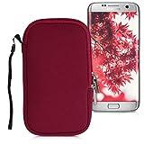 kwmobile Handytasche für Smartphones M - 5,5' - Neopren Handy Tasche Hülle Cover Case Schutzhülle Rot - Innenmaße