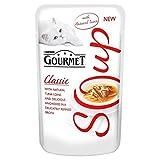 Gourmet Suppen Erwachsene Katze Mit Thunfisch, Sardellen Und Felchen Beutel 40G (Packung mit 6)